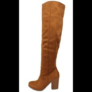 Shoes - Hazel  back split open back over the knee boot